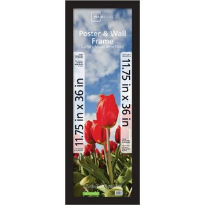 """11.75"""" x 36"""" Wide Gallery Poster and Picture Frame, Black for Sale in Houston, TX"""
