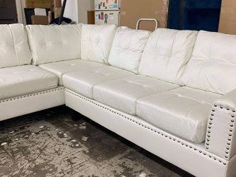New White Leather Sectional Couch Only $50 Down Payment for Sale in Los Angeles,  CA