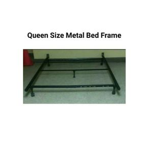 Queen Size Metal Bed Frame with Wheels for Sale in Arlington, VA