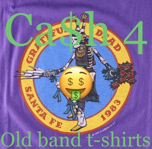 Buying vintage band tees for Sale in Modesto, CA