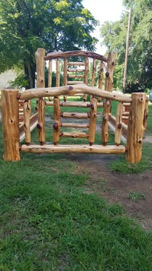 FULL SIZE log frame bed for Sale in Athens, TX