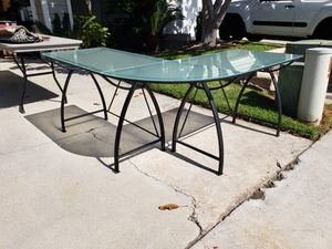 Glass corner office table desk for Sale in Carlsbad, CA