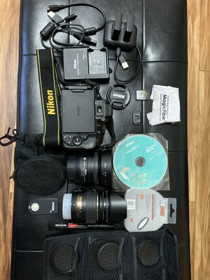 Nikon D5300 Camera bundle with 2 lens and accessories for Sale in Marietta, GA