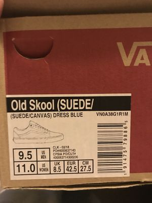Brand New Vans Size 9.5 never worn for Sale in Boone, NC