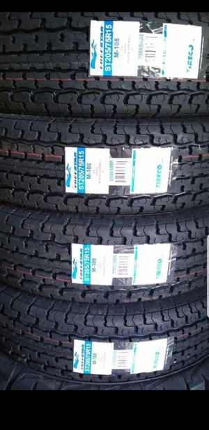 4 New ST-205/75/R15 trailer tires 205-75-15 inch tire 2057515 for Sale in Moreno Valley, CA