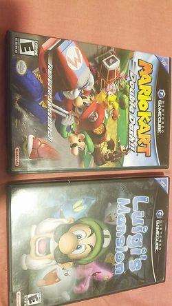 Mario kart and luigi's mansion gamecube. for Sale in Miami,  FL