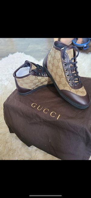 Gucci ebony beige chocolate womens gg high top for Sale in Hayward, CA