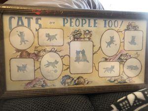 Cat photo collage frame for Sale in Ypsilanti, MI