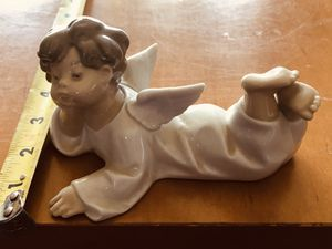 Lladro Figurine LAYING DOWN ANGEL CHERUB CUPID RELIGION #4541 Retired Mint for Sale in Alsip, IL