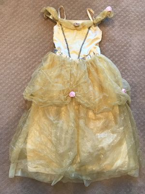 Disney BELLE yellow princess dress costume girls size 9 10 for Sale in Marysville, WA
