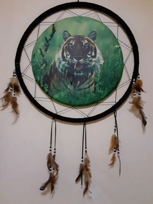 Handmade XL Tiger dream catcher for Sale in Jersey City, NJ