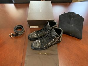 Gucci Limited Ed. Studded Hi-Top Sneakers Men's Size Gucci 13/USA 13.5 for Sale in Milwaukee, WI