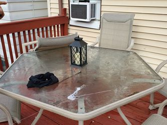 Out Door Glass Table for Sale in Ringwood,  NJ