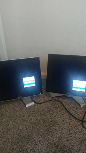 Dual monitors (Dell) for Sale in St. Marys, GA