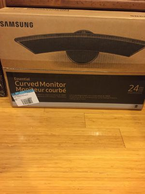 "Samsung 24"" curved monitor for Sale in Lithia, FL"