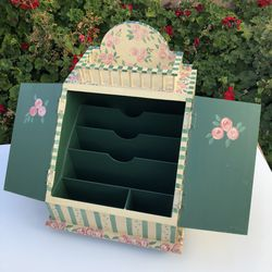 """Floral Wooden Letter Holder / Desk Organizer - 17"""" H x 13 3/8"""" W x 13 3/4"""" D for Sale in Carson,  CA"""