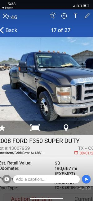 2008 ford f 350 super clean clean title $12000 for Sale in Oakland Park, FL