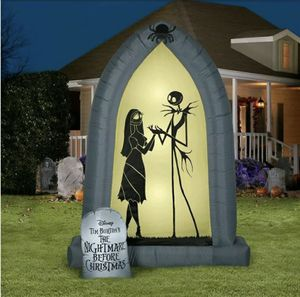 Nightmare Before Christmas Jack & Sally 7 FT Arch LED Airblown Inflatable Gemmy for Sale in Chicago Ridge, IL