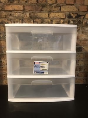 Storage Containers — Sterilite 3 Drawers 15x21x25 for Sale in Evanston, IL