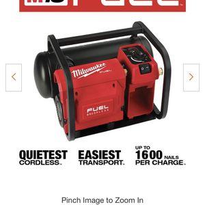 Milwaukee Fuel 2 Gallon Compressor for Sale in Austin, TX