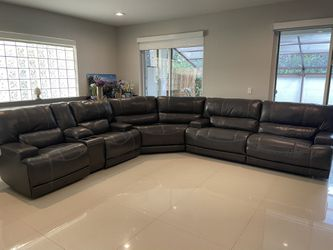 McCaskill Dark Gray Leather Sofa Sectional Set / 4 Reclining Sofas! for Sale in Miami,  FL