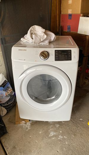 Stackable gas dryer with washer, complete with attachnew best offer for Sale in Belle Vernon, PA