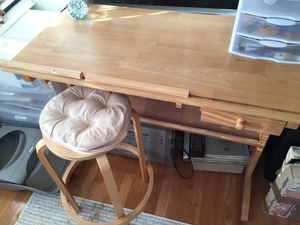 Drafting table ( adjustable top) and stool for Sale in Germantown, MD