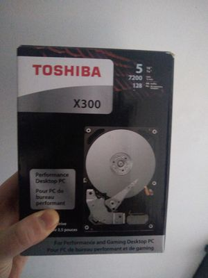 Toshiba X300 5TB Performance & Gaming Internal Hard Drive 7200 RPM SATA 6Gb/s 128MB Cache 3.5 inch for Sale in Martins Ferry, OH