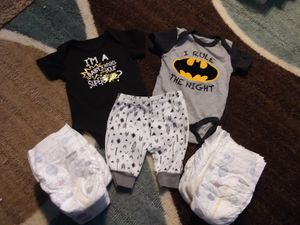 Diapers & onsie sets for Sale in Moorhead, MN