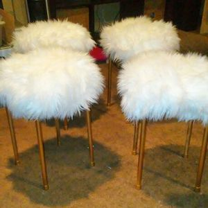 Faux fur stools for Sale in Baltimore, MD