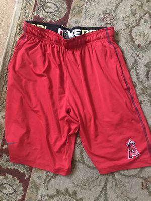 MENS MEDIUM ANAHEIM ANGELS NIKE SHORTS for Sale in Midway City, CA
