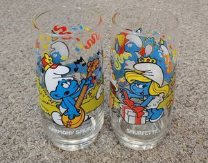 Vintage Collectible 1983 Smurf Glasses $10.00 Each for Sale in Glen Raven, NC
