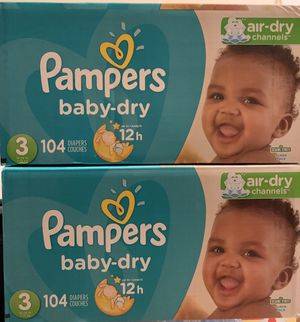 Pampers diapers (104 diapers) $25 each or both for $45 for Sale in Daly City, CA