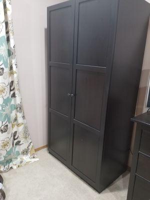 Black Brown Ikea Pax / Hemnes Armoire Closet for Sale in Snohomish, WA