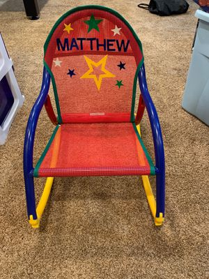 Kids Multicolored Rocking / Sitting Chair Toddler Chair for Sale in Northfield, IL