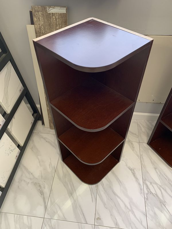 "24"" Wall Cabinet Corner Unit With Shelves Storage New Espresso"