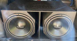 2 15s EXM Audio in Q-Bomb pro box for Sale in New Orleans, LA