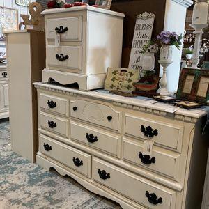 Refinished White Farmhouse Dresser for Sale in Bonney Lake, WA
