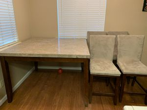 Marble Kitchen Table With 4 Chairs for Sale in Clovis, CA