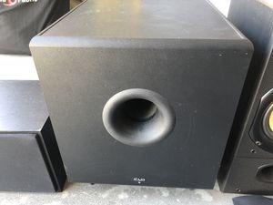 KLH subwoofer and KLIPSCH center channel speaker for Sale in St. Petersburg, FL