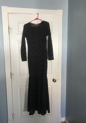 Black long dress #halloween for Sale in Hemet, CA