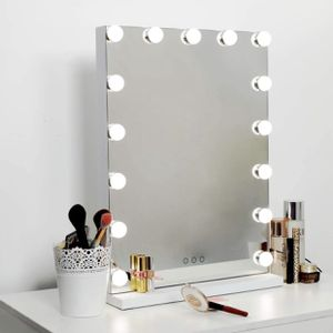 """Hollywood Mirror Makeup Vanity Mirror with Lights, 18.2"""" W x 22.8"""" H, White for Sale in Orlando, FL"""
