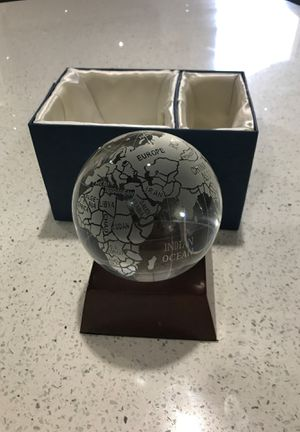 Collectible glass globe earth desk topper for Sale in Las Vegas, NV