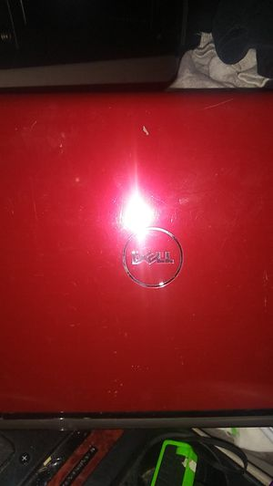 Red dell laptop with charger for Sale in Grants Pass, OR
