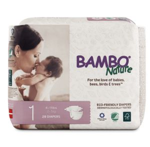 Case of Bambo Nature Diapers 168 diapers total/6 bags of 28 for Sale in Washington, DC