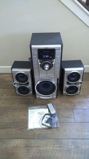 Sony Stereo System w/Subwoofer 3 cd, 2 cassette, radio for Sale in South Jordan, UT