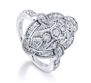 Woman Fashion 925 Silver Cubic Zirconia CZ Charm Art Deco Ring Anniversary Gift Birthday Party Bridal Engagement Wedding ring size 7 for Sale in Moreno Valley, CA