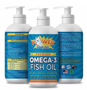 Power Your Pet Omega 3 Fish Oil for Cats and Dogs. for Sale in North Miami Beach, FL