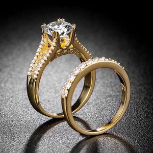 18K Gold plated Engagement/ Wedding/ Bridal Ring Set for Sale in Paradise, NV