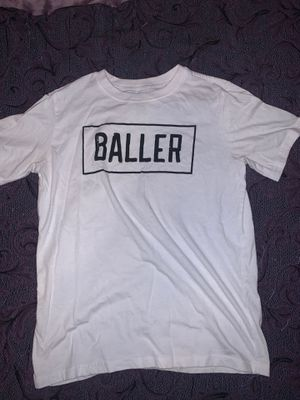 """White """"BALLER"""" t-shirt Size youth L ( 14/16) for Sale in Riverside, CA"""